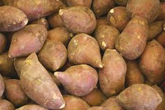 Patates douces rouges Photo stock