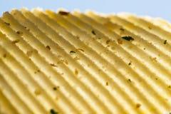 Patatina fritta ondulata Fotografia Stock Libera da Diritti