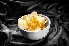 Patatine fritte in ciotola B&W Fotografia Stock