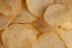 Patatine fritte con le erbe fotografia stock libera da diritti
