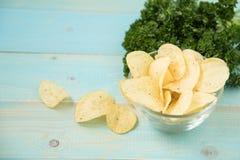 Patatine fritte con piccante Fotografie Stock Libere da Diritti