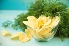 Patatine fritte con piccante Fotografie Stock
