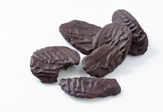 Patatine fritte coperte di cioccolato scure Fotografie Stock