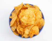 Patatine fritte del fondo Fotografie Stock
