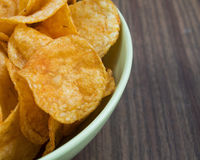 Patatine fritte del fondo Fotografia Stock