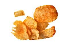 Patatine fritte del mucchio Fotografie Stock Libere da Diritti