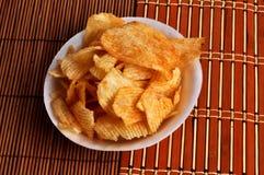 Patatine fritte del mucchio Fotografia Stock Libera da Diritti