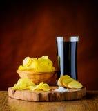 Patatine fritte e cola Fotografie Stock Libere da Diritti
