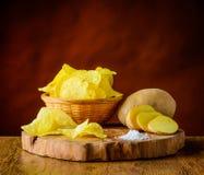 Patatine fritte e patata Fotografia Stock Libera da Diritti