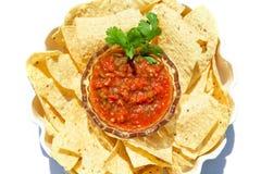 Patatine fritte e salsa Fotografia Stock Libera da Diritti