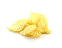 Patatine fritte isolate su priorità bassa bianca Fotografia Stock