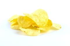 Patatine fritte su bianco Fotografia Stock Libera da Diritti