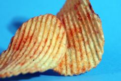 patato τσιπ Στοκ Φωτογραφίες