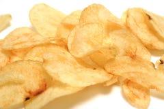 Patato crisps. Natural salt fat patato crisps royalty free stock photography