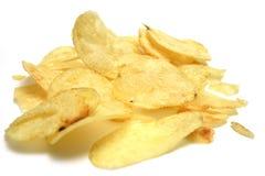 Patato crisps. Natural salty fat potato crisps Royalty Free Stock Photos