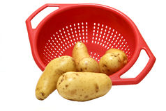 Patatoes in strainer Stock Images