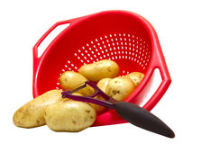 Patatoes in strainer Royalty Free Stock Photography