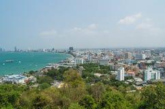 Pataya泰国Arial视图  库存图片