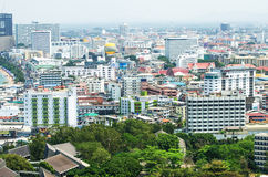 Pataya泰国Arial视图  免版税图库摄影