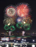 Pataya city firework festival Royalty Free Stock Images