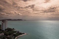 Pataya. Pattaya beach and city bird eye view, Chonburi, Thailand Royalty Free Stock Photo