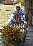 Pataya, Thailand May 13, 2018, Floating Market in holidays,tourism are travel to famous floating market and cultural tourist stock image