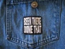 Patch. On jean jacket pocket Stock Photography