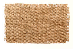 Patch of aged sack material Royalty Free Stock Images