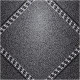 Patch. Black jeans realistic denim texture Stock Photos