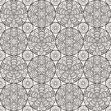 Patch Boho Flower Seamless Pattern. Mandala patchwork, oriental design. Wallpaper, furniture textile, fabric print, pillow deco. Vector background Royalty Free Stock Photography