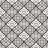 Patch Boho Flower Seamless Pattern. Mandala patchwork, oriental design. Wallpaper, furniture textile, fabric print, pillow deco. Vector background Royalty Free Stock Images