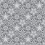 Patch Boho Flower Seamless Pattern. Mandala patchwork, oriental design. Wallpaper, furniture textile, fabric print, pillow deco. Vector background Stock Photography