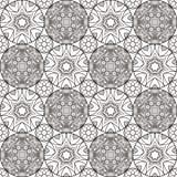 Patch Boho Flower Seamless Pattern. Mandala patchwork, oriental design. Wallpaper, furniture textile, fabric print, pillow deco. Vector background Stock Photos