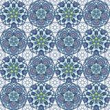 Patch Boho Flower Seamless Pattern. Mandala patchwork, oriental design. Wallpaper, furniture textile, fabric print, pillow deco. Vector background Royalty Free Stock Photo