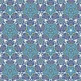 Patch Boho Flower Seamless Pattern. Mandala patchwork, oriental design. Wallpaper, furniture textile, fabric print, pillow deco. Vector background Stock Photo