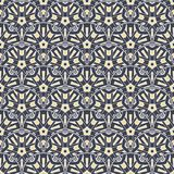 Patch Boho Flower Seamless Pattern. Mandala patchwork, oriental design. Wallpaper, furniture textile, fabric print, tile deco. Vector background Royalty Free Stock Photo
