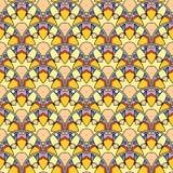 Patch Boho Flower Seamless Pattern. Mandala patchwork, oriental design. Wallpaper, furniture textile, fabric print, tile deco. Vector background Stock Photo