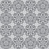 Patch Boho Flower Seamless Pattern. Mandala patchwork, oriental design. Wallpaper, furniture textile, fabric print, tile deco. Vector background Royalty Free Stock Photography