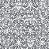 Patch Boho Flower Seamless Pattern. Mandala patchwork, oriental design. Wallpaper, furniture textile, fabric print, tile deco. Vector background Stock Images
