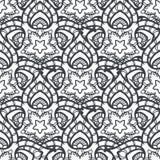 Patch Boho Flower Seamless Pattern. Mandala patchwork, oriental design. Wallpaper, furniture textile, fabric print, tile deco. Vector background Stock Photography