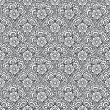 Patch Boho Flower Seamless Pattern. Mandala patchwork, oriental design. Wallpaper, furniture textile, fabric print, tile deco. Vector background Royalty Free Stock Photos