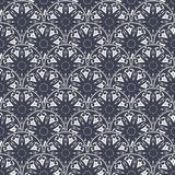 Patch Boho Flower Seamless Pattern. Mandala patchwork, oriental design. Wallpaper, furniture textile, fabric print, tile deco. Vector background Royalty Free Stock Images