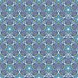 Patch Boho Flower Seamless Pattern. Mandala patchwork, oriental design. Wallpaper, furniture textile, fabric print, tile deco. Vector background Stock Image