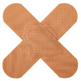 Patch in cross shape Royalty Free Stock Photography