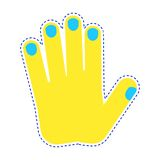 Patch gesture palm Royalty Free Stock Image