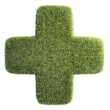 Patch of grass shaped like a cross Royalty Free Stock Images