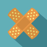 Patch icon, flat style Royalty Free Stock Photo