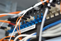 Patch panel Stock Photo