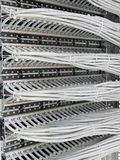 Patch panel of the 6th category Royalty Free Stock Photos