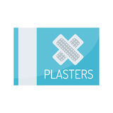 Patch plaster vector. Adhesive patch plasters isolated on white background. Vector aid protection bandage medical. Help care emergency sticky injury assistance Royalty Free Stock Photography